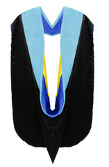 Doctor of Education Hood - Royal Blue & Gold
