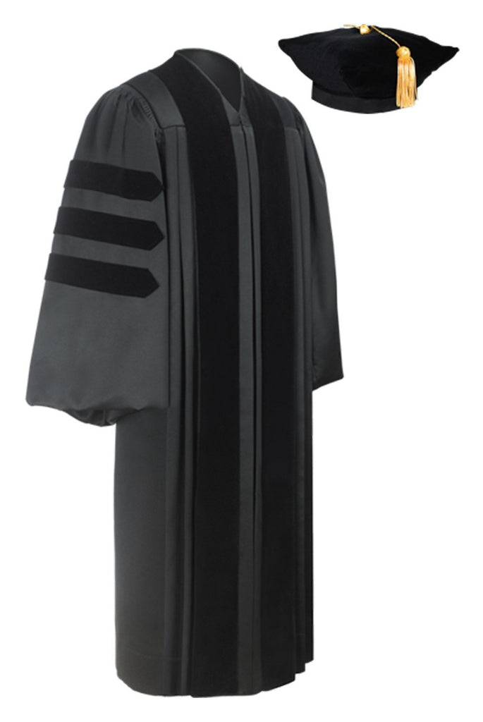 Deluxe Doctoral Graduation Tam & Gown Package - Graduation Cap and Gown