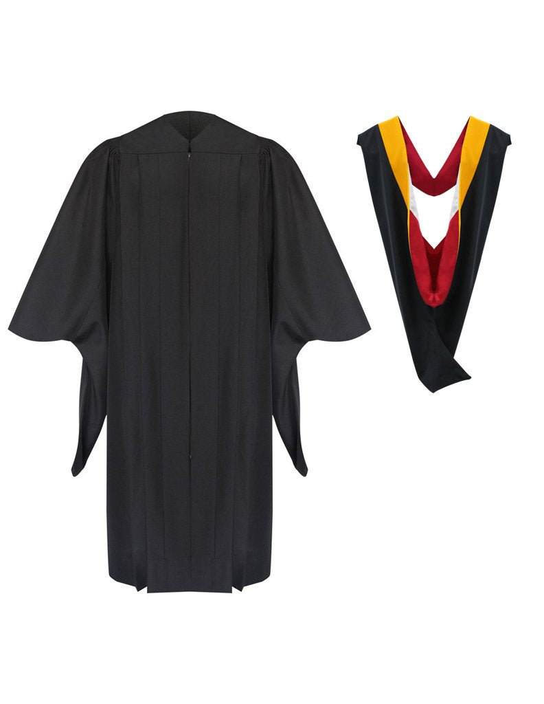 Deluxe Masters Graduation Gown & Hood Package - Graduation Cap and Gown