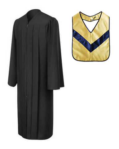 Matte Black Associates Gown & Hood Package