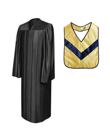Shiny Black Associates Gown & Hood Package