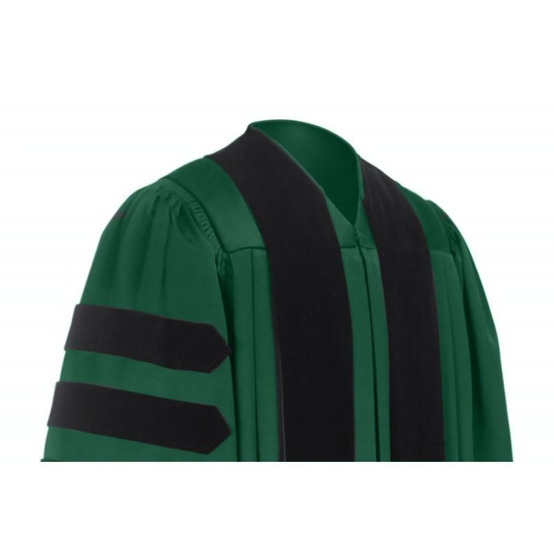 Deluxe Hunter Doctoral Gown - Graduation Cap and Gown