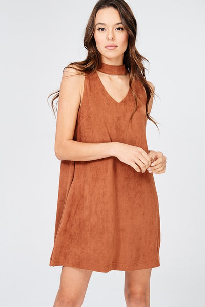 DIANA BRICK CHOKER DRESS