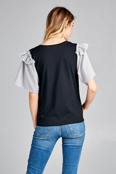ARTSY TOP BLACK