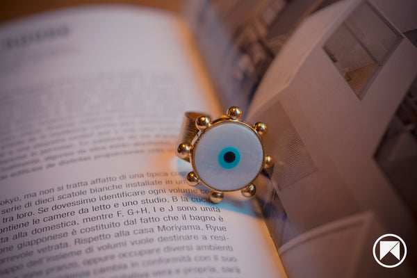 TURKISH EYE BEAD RING
