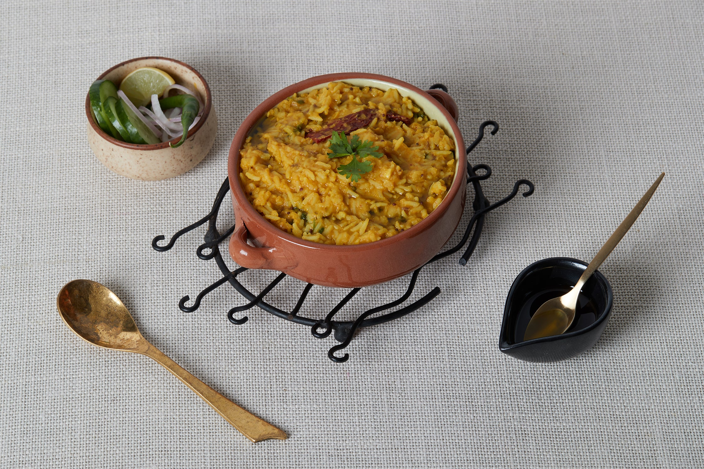 Hemp Seed Oil drizzled over Khichdi