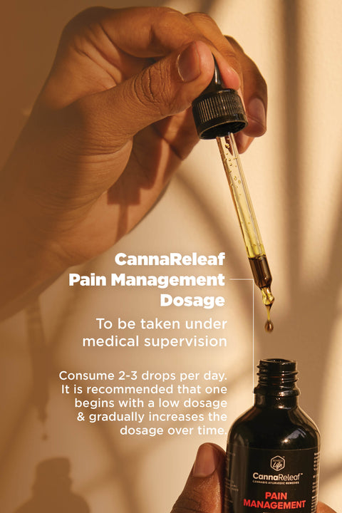 CannaReleaf™ - Pain Management (10ml)<br/><b>Cinnamon & Fennel Flavour</b><br/>1875mg Cannabis Leaf Extract<br/>For Oral Consumption