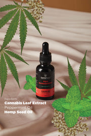 CannaReleaf™ - Pain Management (10ml)<br/><b>Peppermint Flavour</b><br/>1875mg Cannabis Leaf Extract<br/>For Oral Consumption