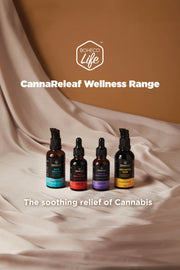 CannaReleaf™ - Stress Management (30ml)<br/><b>Peppermint Flavour</b><br/>3000mg Cannabis Leaf Extract<br/>For Oral Consumption