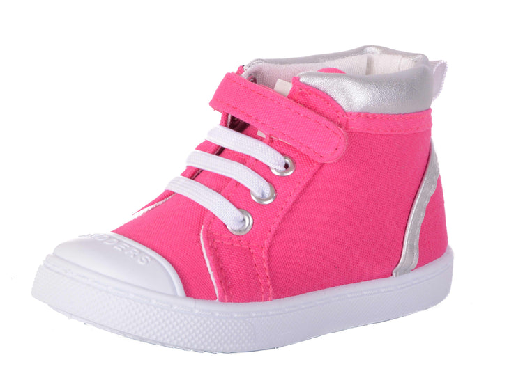 Skidders Soft Closure Baby Toddler Girls High Top Sneakers Style SK1033 - Skidders.com