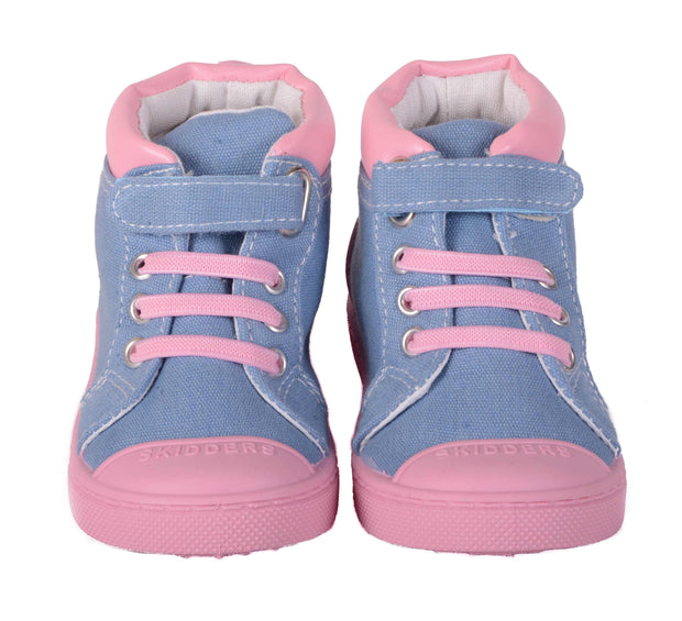 Skidders Soft Closure Baby Toddler Girls High Top Sneakers Style SK1034