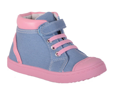 Skidders Soft Closure Baby Toddler Girls High Top Sneakers Style SK1034 - Skidders.com