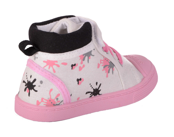 Skidders Soft Closure Baby Toddler Girls High Top Sneakers Style SK1035 - Skidders.com