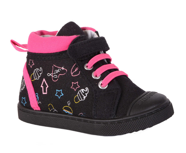 Skidders Soft Closure Baby Toddler Girls High Top Sneakers Style SK1036 - Skidders.com