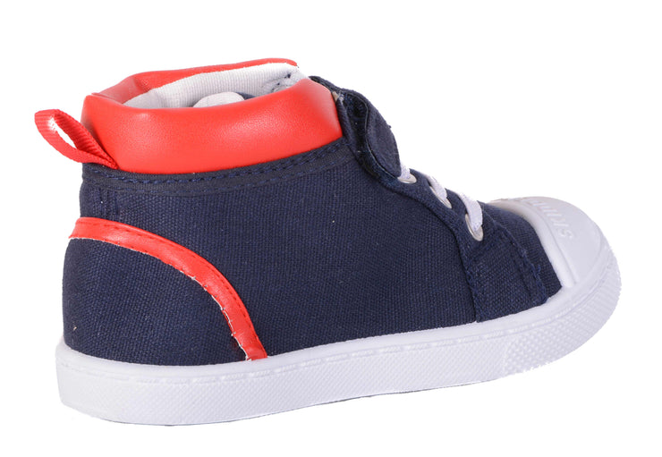 Skidders Soft Closure Baby Toddler Boys / Girls High Top Sneakers Style SK1037