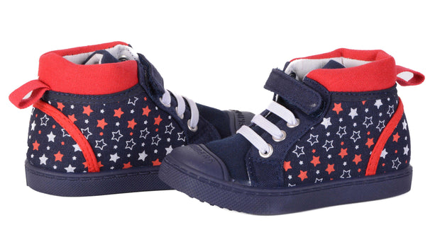 Skidders Soft Closure Baby Toddler Girls High Top Sneakers Style SK1040 - Skidders.com