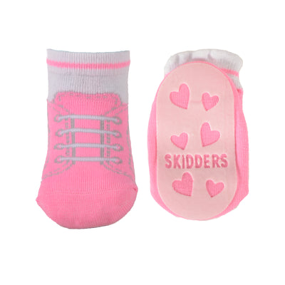 Skidders Baby Toddler Girls Grip Socks Style 1152BF - Skidders.com