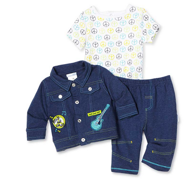 Vitamins Baby-boys Newborn Rock The House 3 Piece Pant Set and Socks