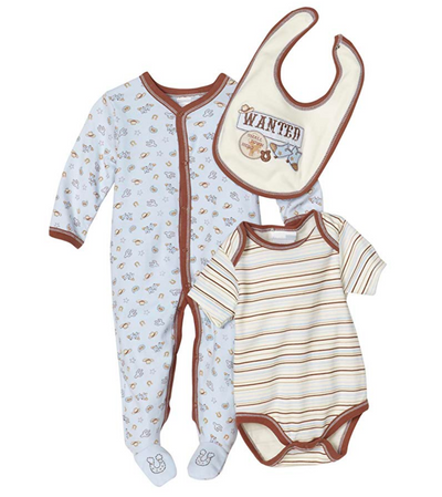 Vitamins Playwear Baby-Boys Newborn Wanted Three Piece Sleep & Play Set - Skidders.com