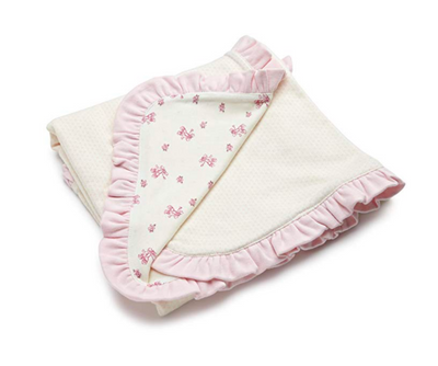 Vitamins Baby Baby-girls Newborn Sweet Little Steps 2-Ply Interlock Blanket - Footsis.com