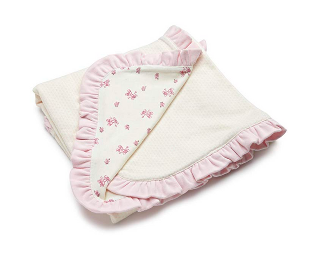 Vitamins Baby Baby-girls Newborn Sweet Little Steps 2-Ply Interlock Blanket