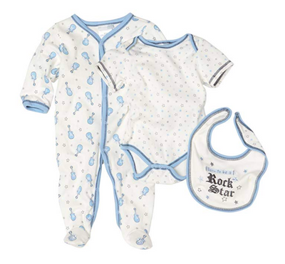 Vitamins Playwear Baby-Boys Newborn Rock Star Three Piece Sleep & Play Set - Footsis.com