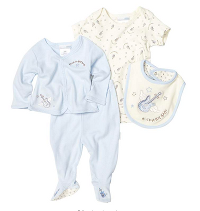 Vitamins Baby Baby-boys Newborn Rock A Bye Baby 4 Piece Pant Set - Footsis.com