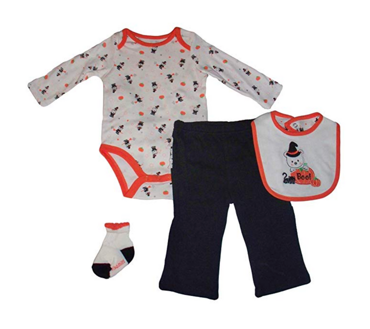 Vitamins Baby Girls 4pc Boo Halloween Pants Set - Skidders.com