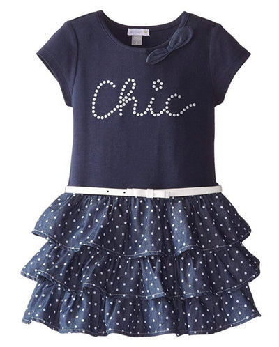 Petit Lem Little Girls' Chic Tiered Tutu Dress - Footsis.com