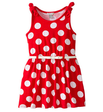 Petit Lem Little Girls' Dot Print Belted Dress - Footsis.com
