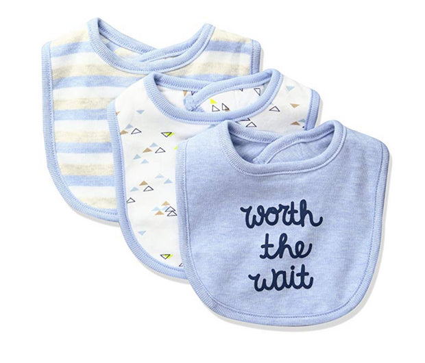Sterling Baby by Vitamins Baby Boys' 3 Pack Bib