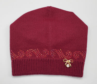 Girls' Wool Blend Rhinestone Hat Sz 4-7 Years - Footsis.com
