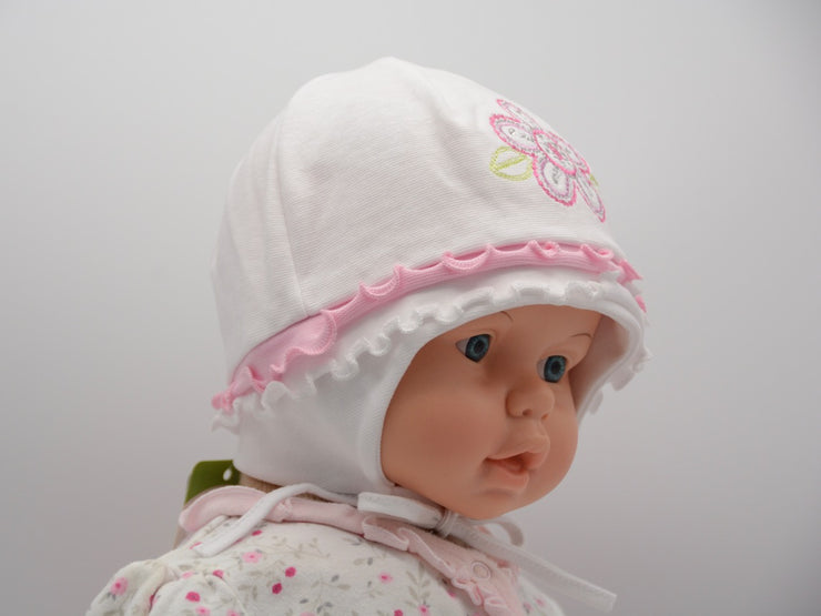 Limited Edition Soft Baby Girl 'Flower Rhinestone' Hat Cotton Blend Baby 12-24 Months - Skidders.com