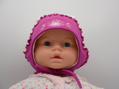 Limited Edition Soft Baby Girl 'Flower Rhinestone' Hat Cotton Blend Baby 12-36 Months - Skidders.com