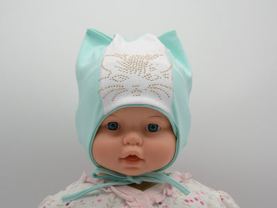 Limited Edition Soft Baby Girl 'Kitty' Hat Cotton Blend Infant 12-18 Months - Footsis.com