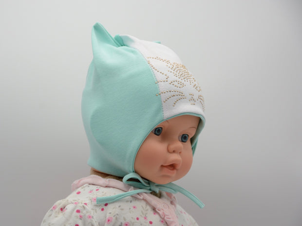 Limited Edition Soft Baby Girl 'Kitty' Hat Cotton Blend Infant 12-18 Months - Skidders.com
