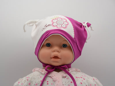 Limited Edition Soft Baby Girl 'Flower Bella' Hat Cotton Blend Baby 6-24 Months - Footsis.com