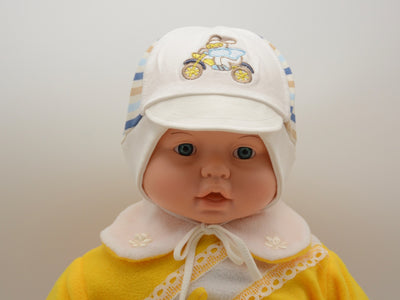 Limited Edition Soft Baby Boy 'Motorcycle' Hat Cotton Blend Infant 6-12 Months