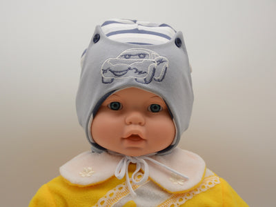 Limited Edition Soft Baby Boy 'Car' Hat Cotton Blend Infant 0-6 Months