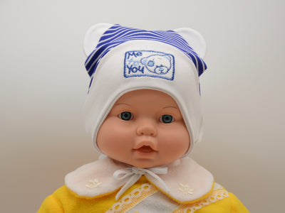 Limited Edition Soft Baby Boy 'Me to You' Hat Cotton Blend Infant 0-6 Months - Skidders.com