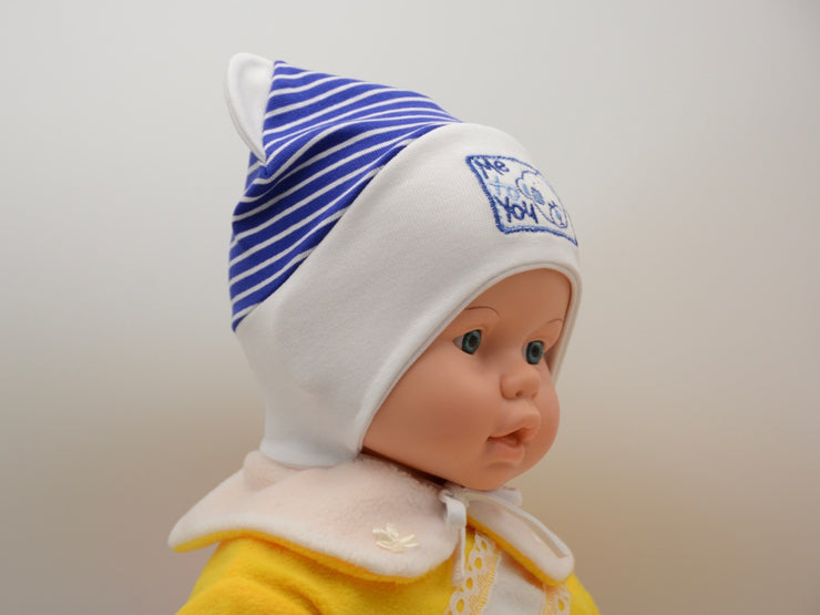 Limited Edition Soft Baby Boy 'Me to You' Hat Cotton Blend Infant 0-6 Months