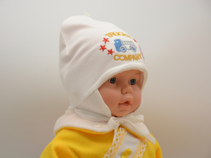 Limited Edition Soft Baby Boy 'Trucks Company' Hat Cotton Blend Infant 6-12 Months