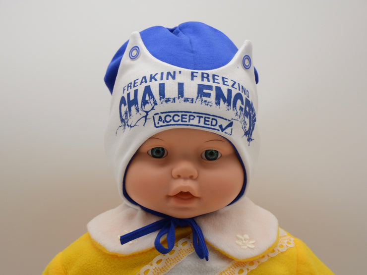 Limited Edition Soft Baby Boy 'Challenge' Hat Cotton Blend Infant 6-12 Months - Skidders.com