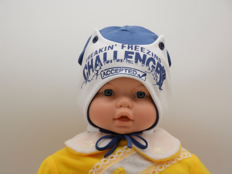 Limited Edition Soft Baby Boy 'Challenge' Hat Cotton Blend Infant 6-12 Months