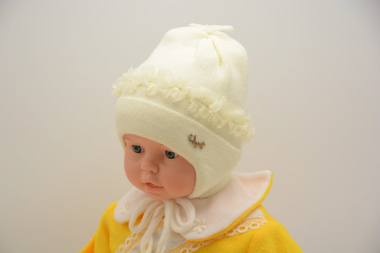 Limited Edition Soft Baby Girl Wool Blend Winter Hat Infant 6-12 Months; 12-18 Months - Skidders.com