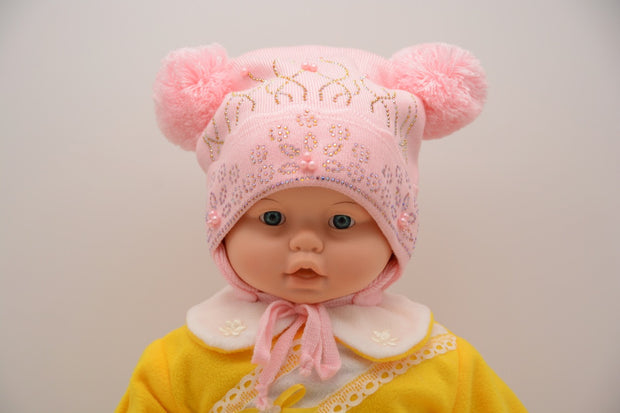Limited Edition Soft Baby Girl Wool Blend Hat Baby 24-36 Months