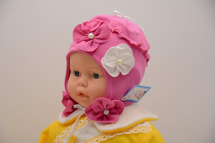 Limited Edition Soft Baby Flower Hat Cotton Blend Infant 6-12 Months