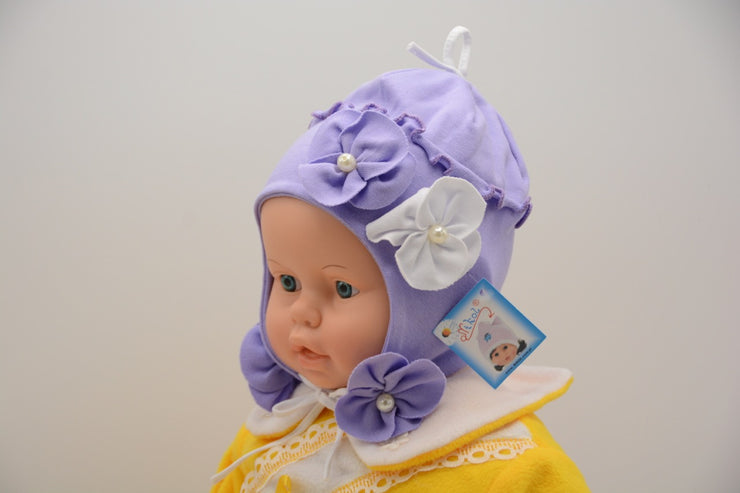Limited Edition Soft Baby Flower Hat Cotton Blend Infant 6-12 Months - Skidders.com