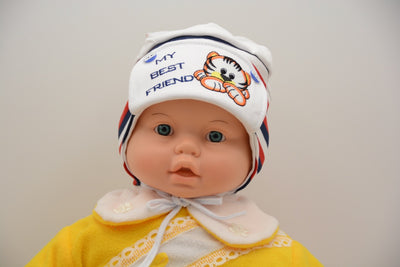 Limited Edition Soft Baby Boy 'My Best Friend' Hat Cotton Blend Infant 12-18 Months - Footsis.com
