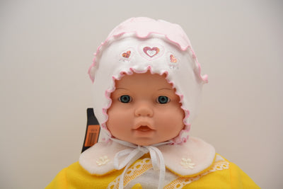 Limited Edition Soft Baby Girl 'Hearts' Hat Cotton Blend Infant 12-18 Months - Skidders.com